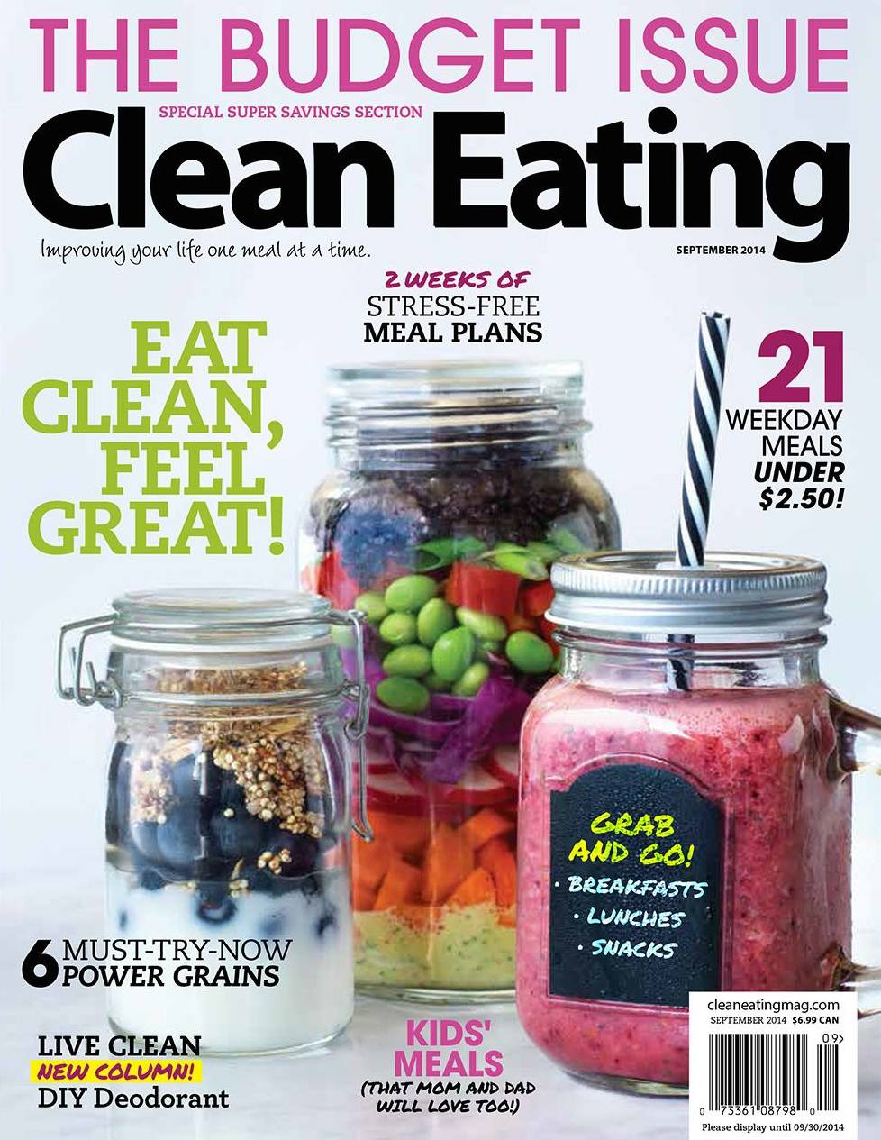 hot for food blog in the September issue of Clean Eating Magazine