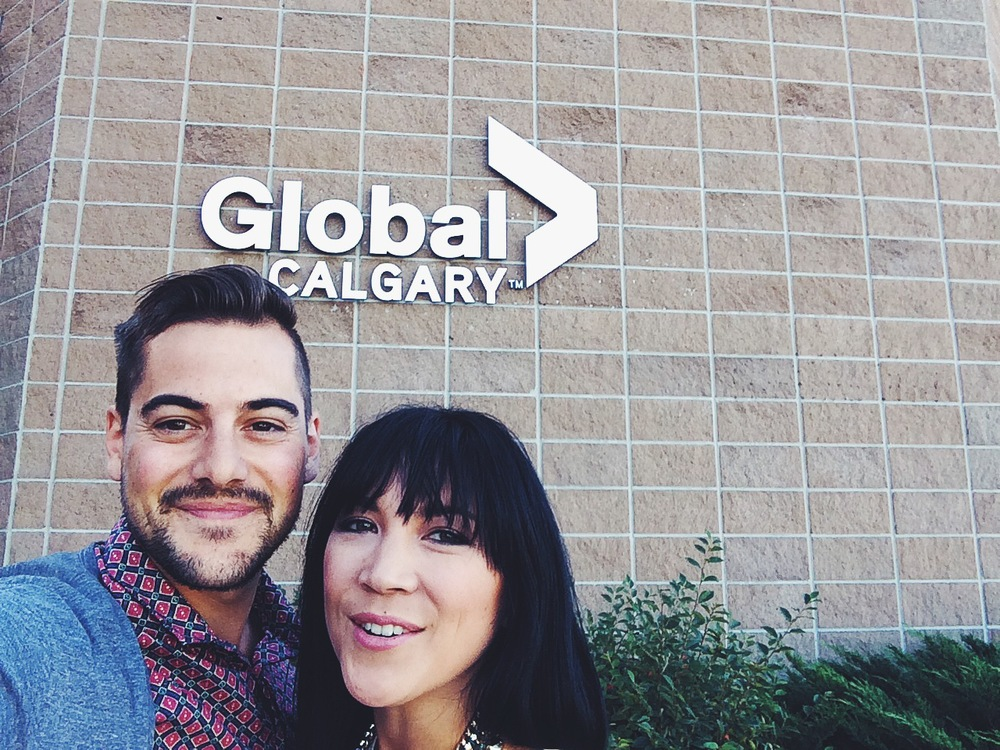Lauren Toyota & John Diemer of hot for food blog on Global TV Calgary
