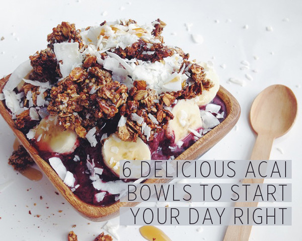 6 delicious acai bowls to start your day right | as seen on Women's Health Magazine online