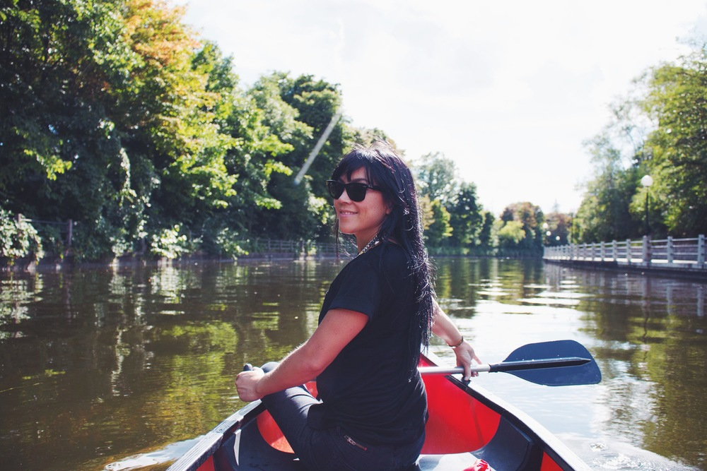 canoeing on rideau canal