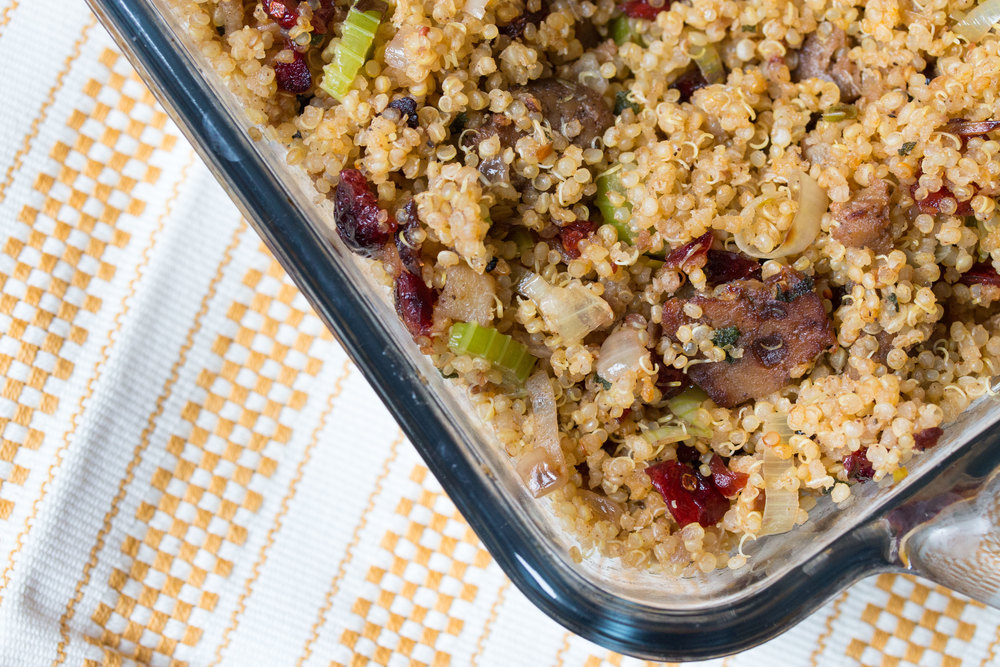 savoury quinoa stuffing #vegan #glutenfree #thanksgivingrecipes | RECIPE on hotforfoodblog.com