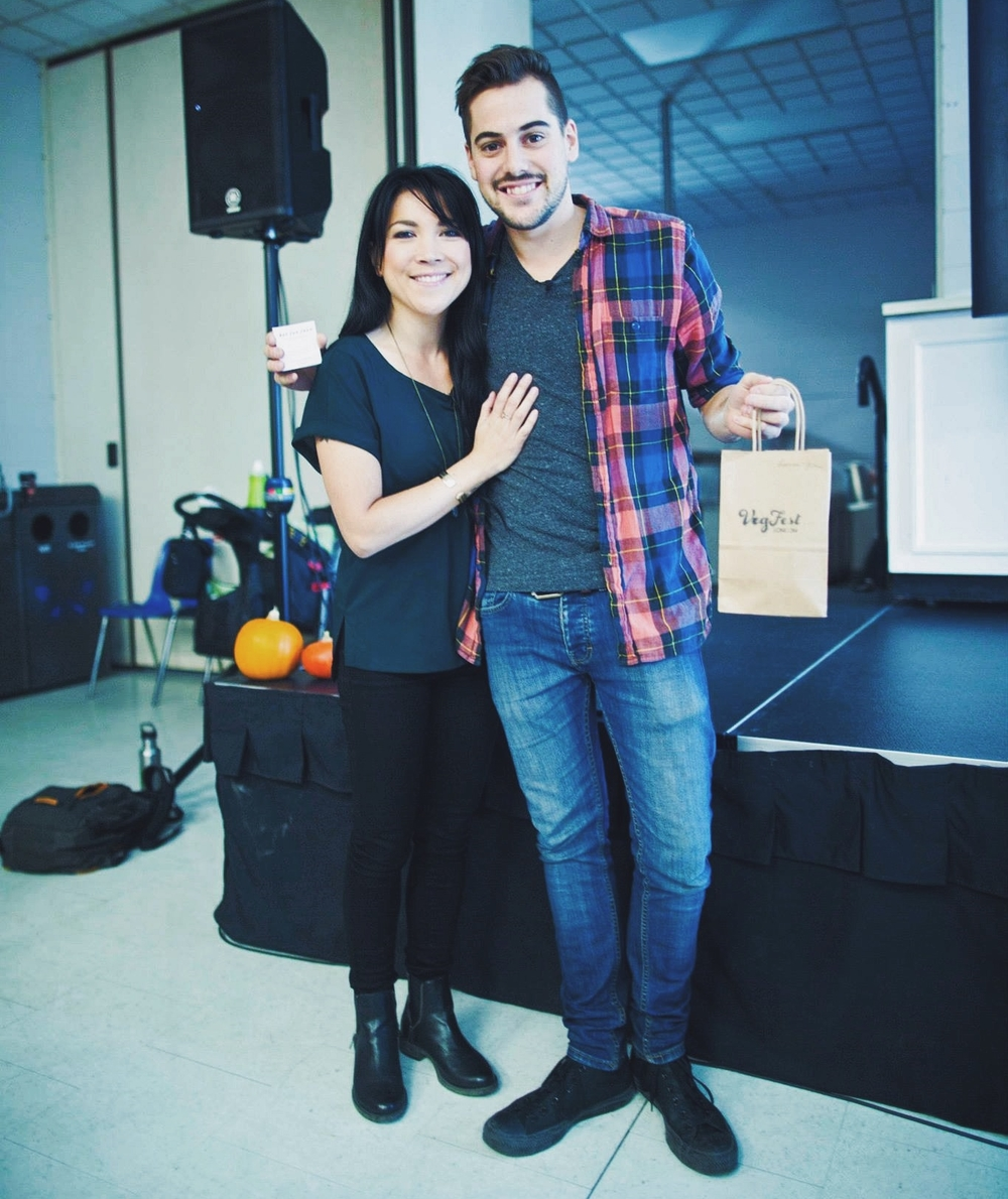 hot for food blog's Lauren Toyota & John Diemer speak at VegFest London 2014 | hotforfoodblog.com
