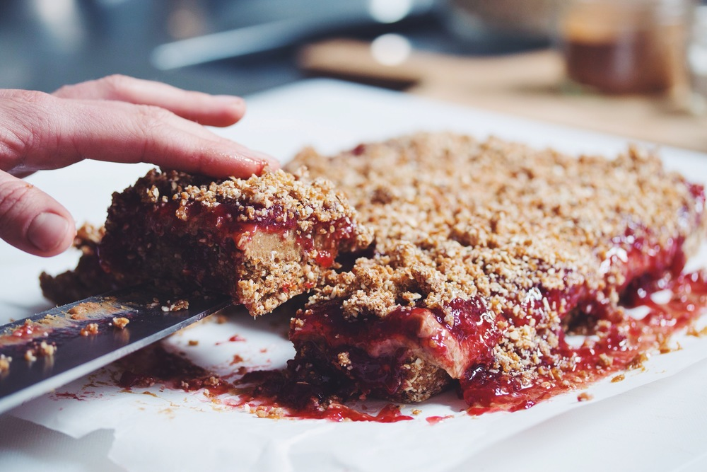 peanut butter & jam squares_hot for food