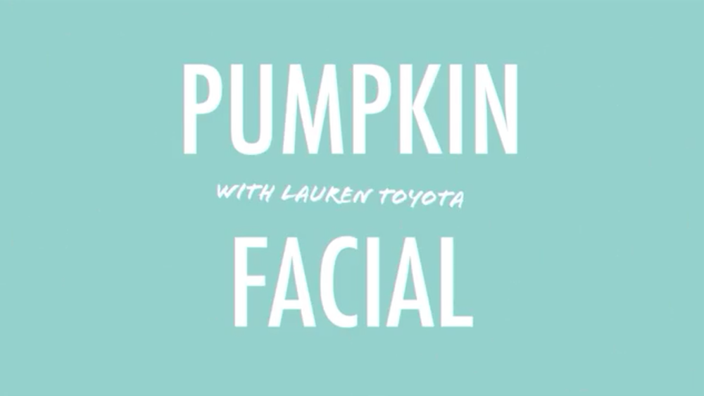 DIY pumpkin facial | RECIPE on hotforfoodblog.com
