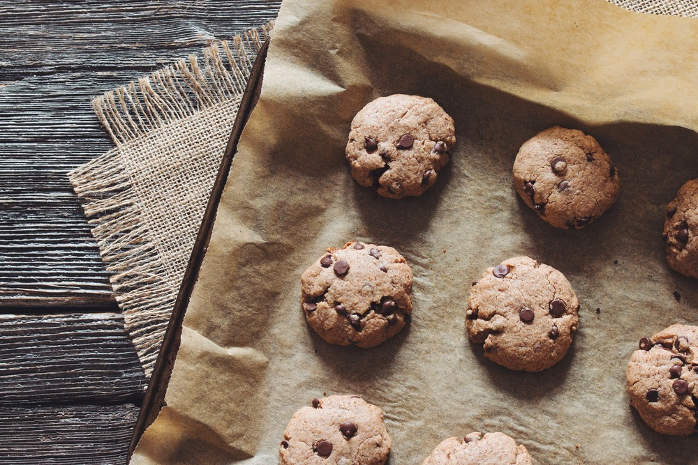 chocolate chip almond butter cookies_hot for food