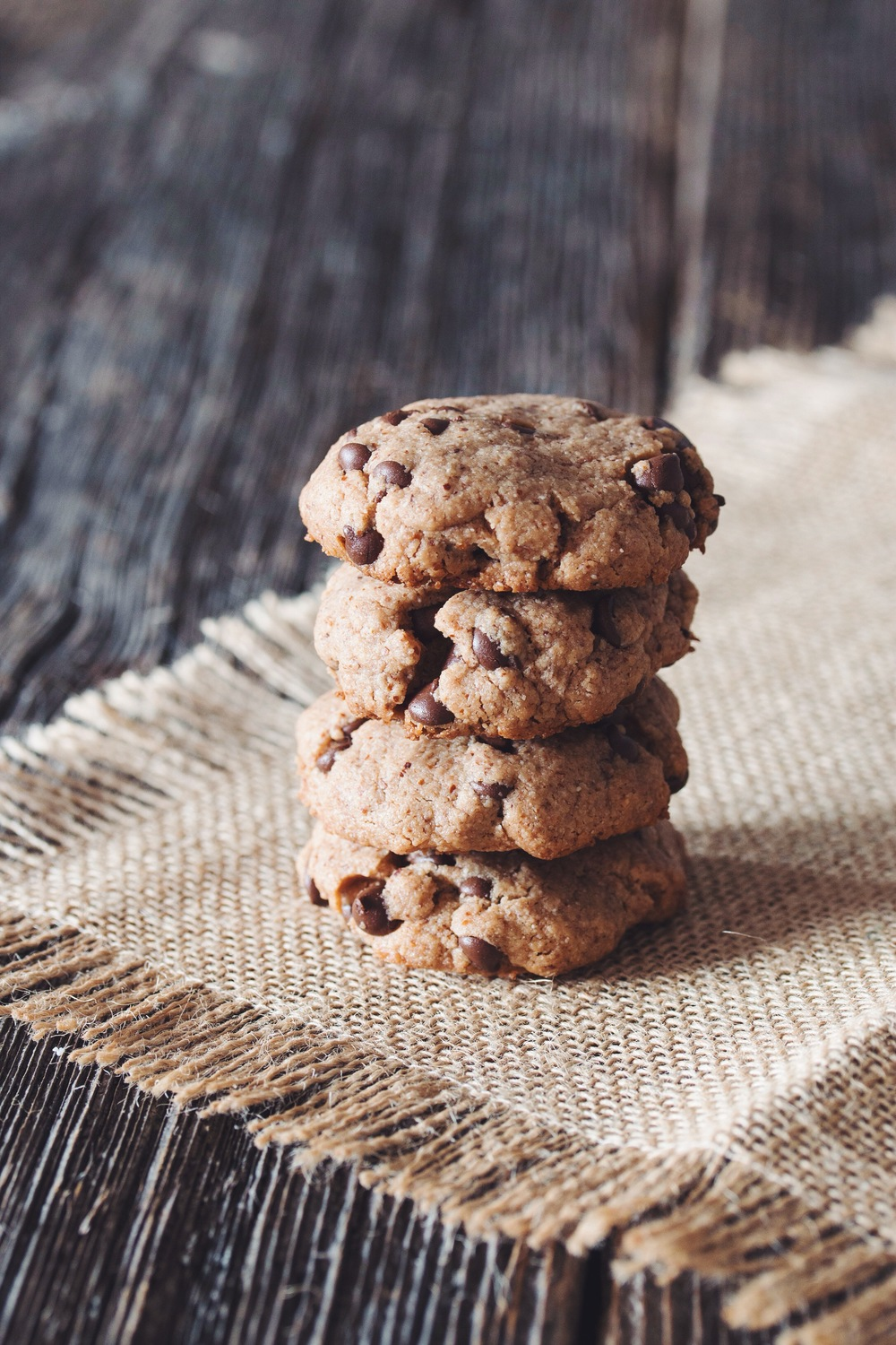 chocolate chip almond butter cookies #vegan #glutenfree | RECIPE on hotforfoodblog.com.jpg