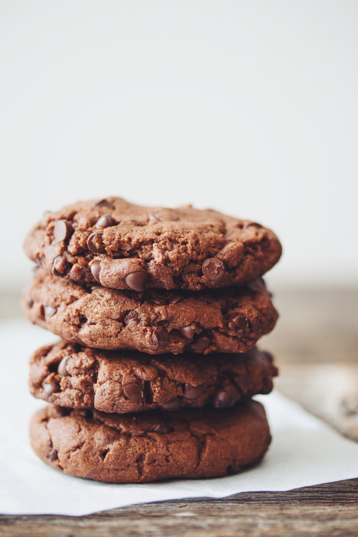 double chocolate cookies #vegan | RECIPE on hotforfoodblog.com