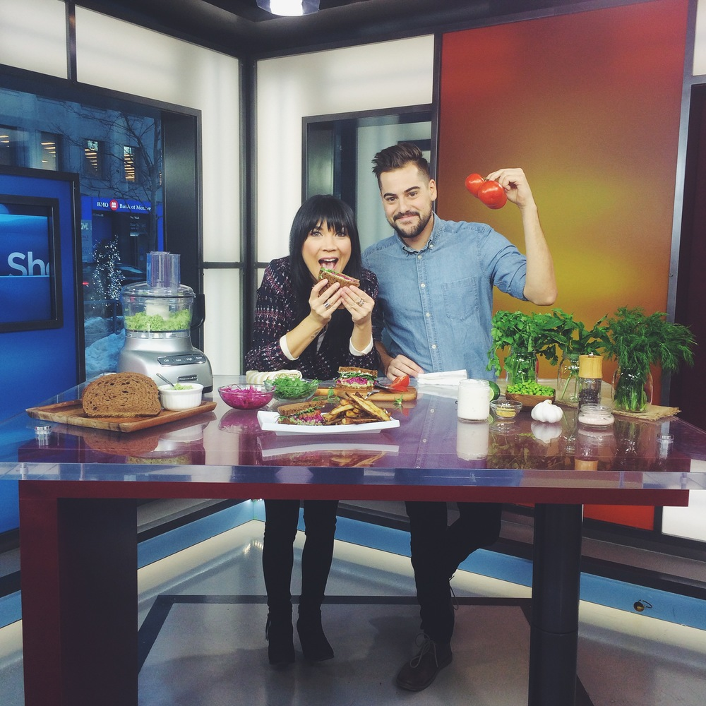 Lauren Toyota & John Diemer, hot for food blog on The Morning Show on Global Toronto | hotforfoodblog.com