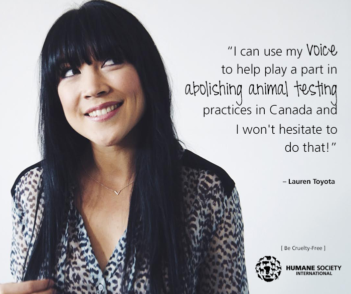 Lauren Toyota of hot for food blog is part of Humane Society International's #BeCrueltyFree campaign