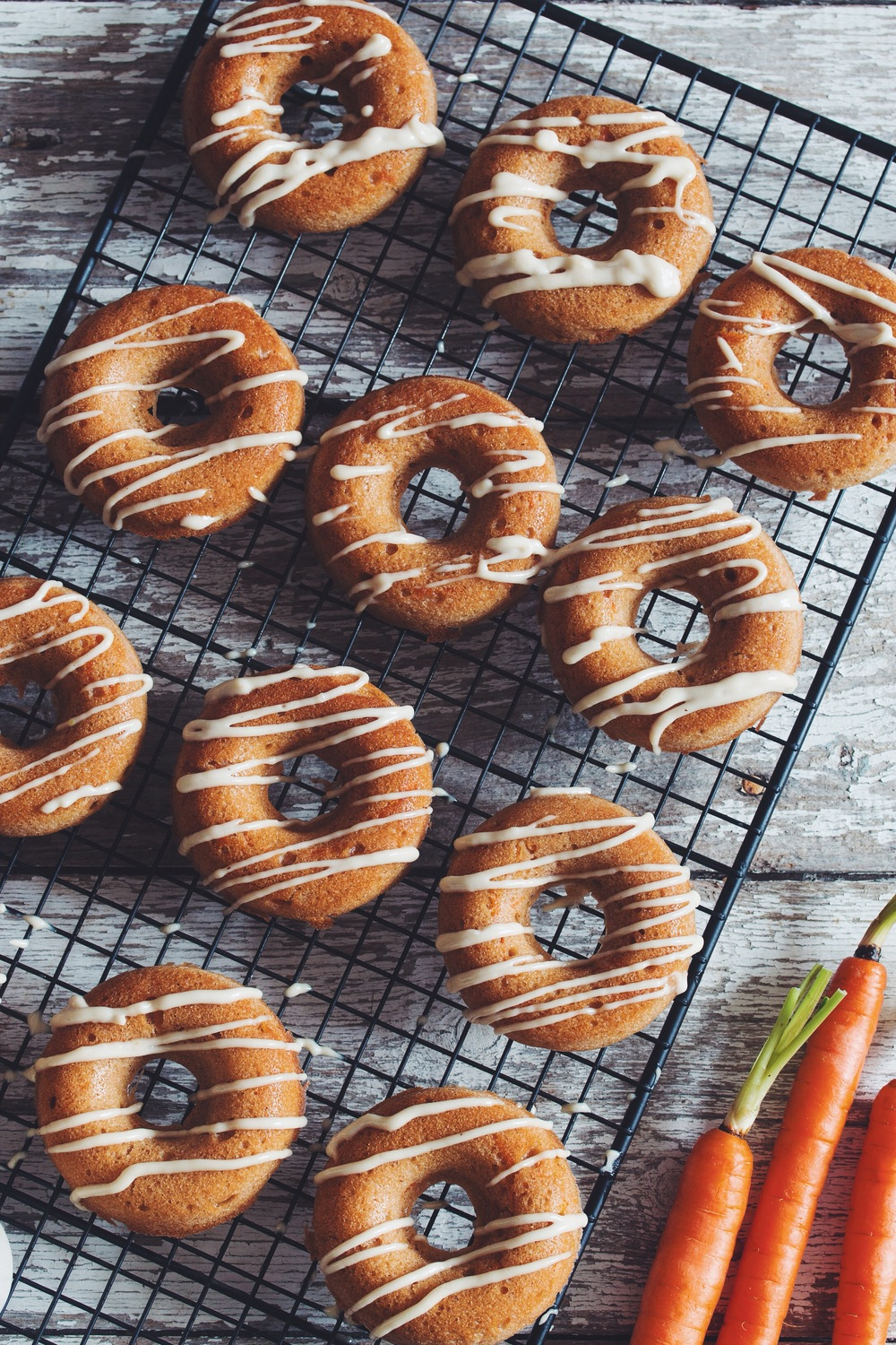 Vegan Carrot Cake Doughnuts With Lemon Cream Glaze Recipe On Hotforfoodblog Com