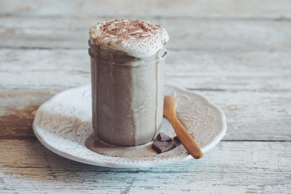 vegan mocha frappuccino smoothie_hot for food