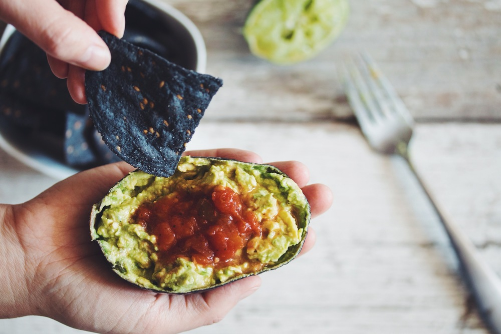 guacamole for one #vegan #easyrecipes | RECIPE on hotforfoodblog.com
