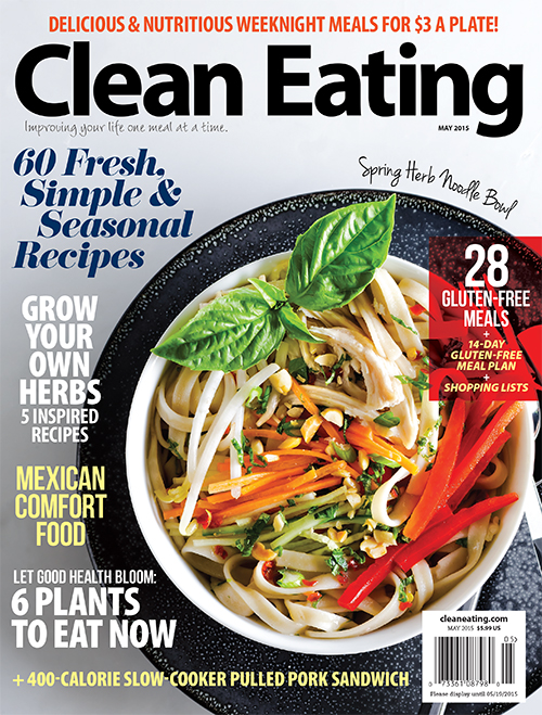 clean eating magazine May issue | featuring hotforfoodblog.com