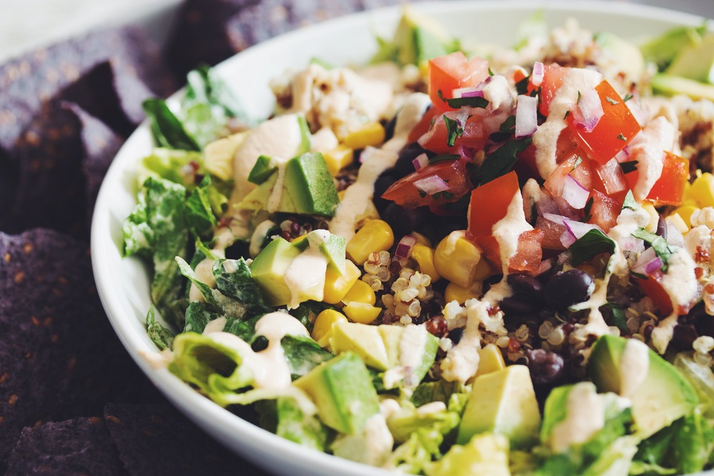 rainbow quinoa taco salad #vegan #glutenfree | RECIPE on ...
