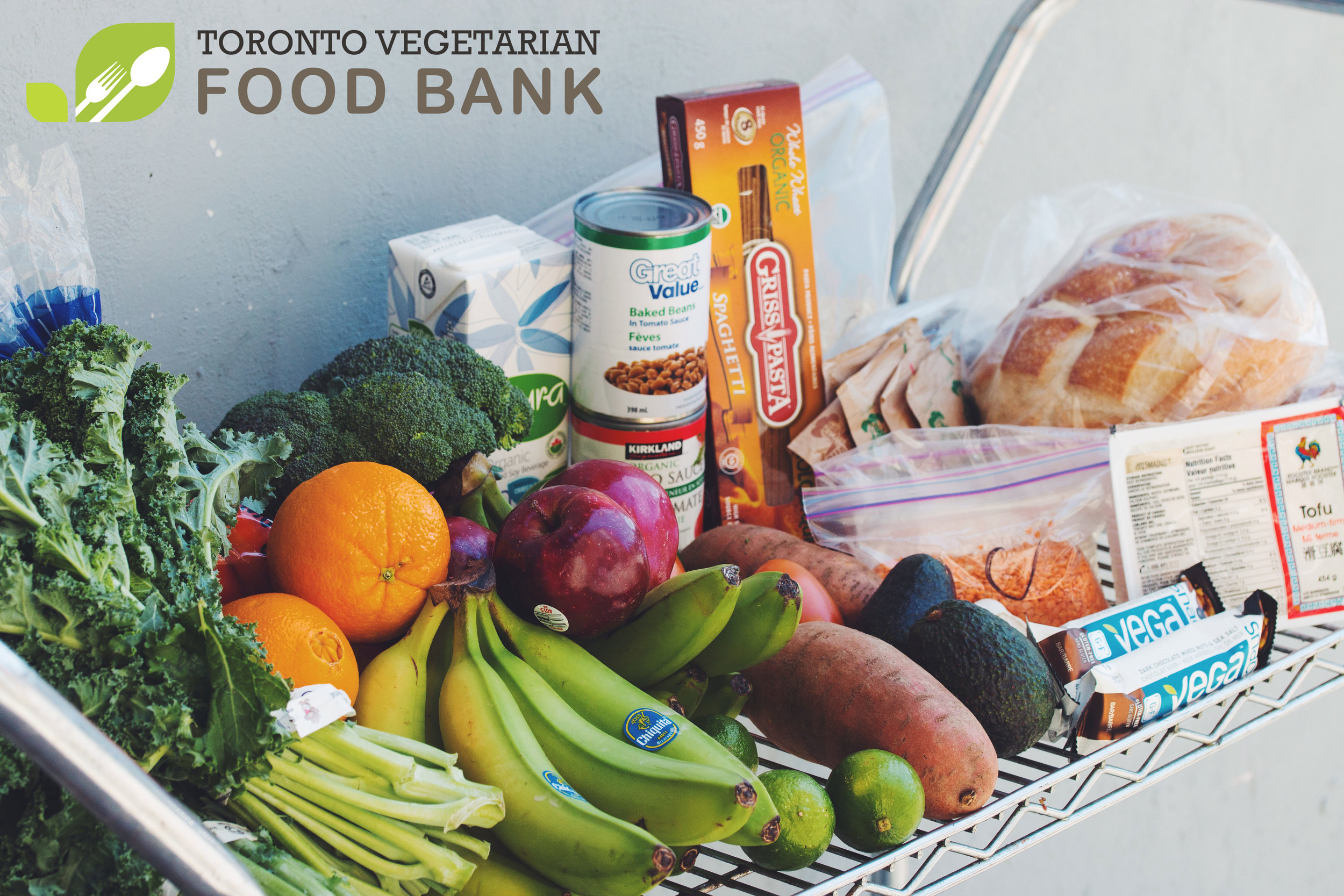the amount of groceries a person will receive in one visit to the Toronto Vegetarian Food Bank