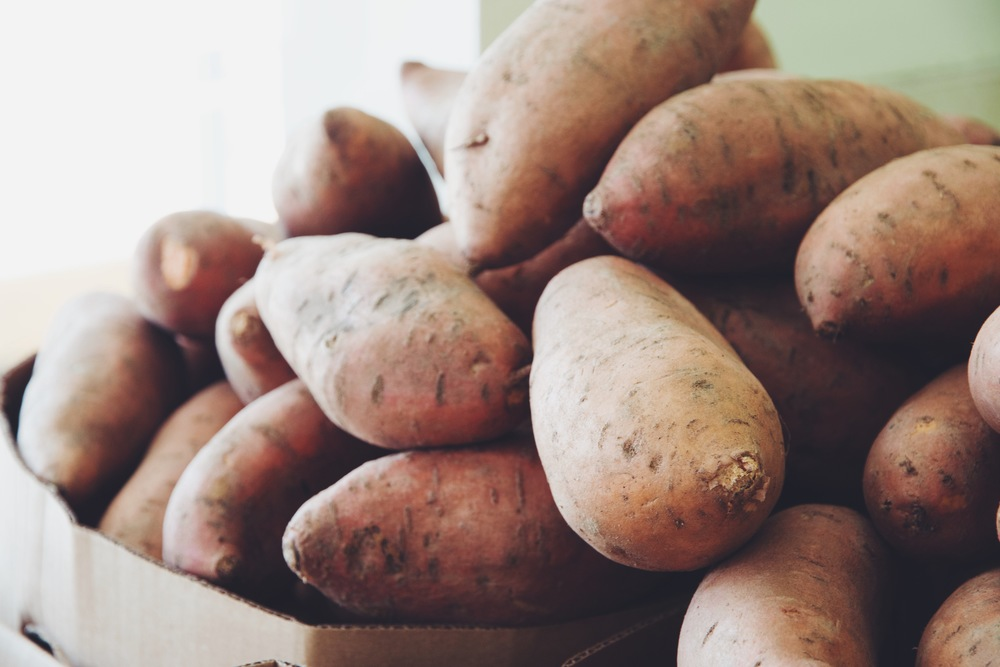 sweet potatoes from Toronto Vegetarian Food Bank