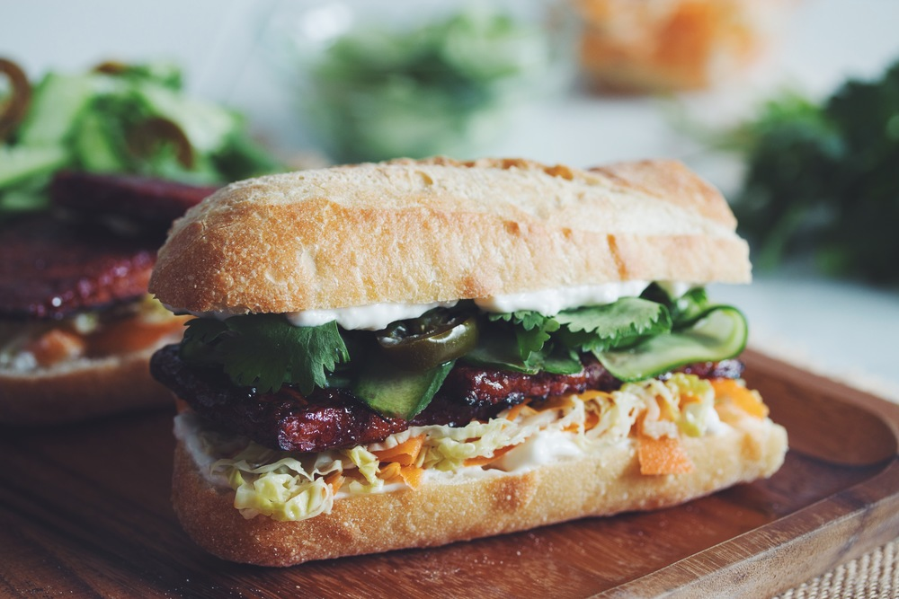 bbq tempeh bahn mi_hot for food