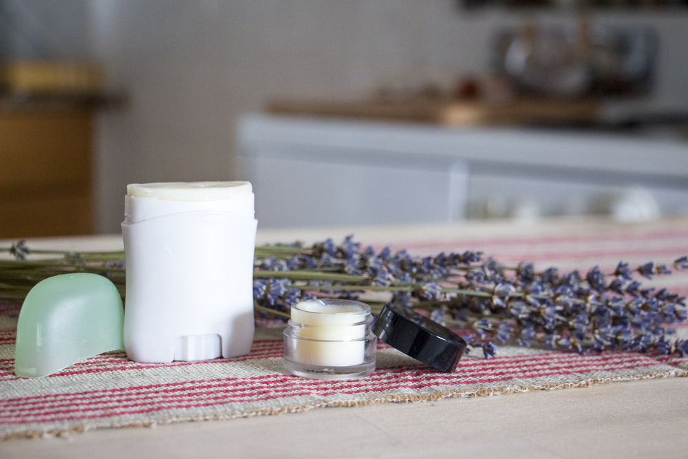 make your own all-natural lavender deodorant | RECIPE on hotforfoodblog.com
