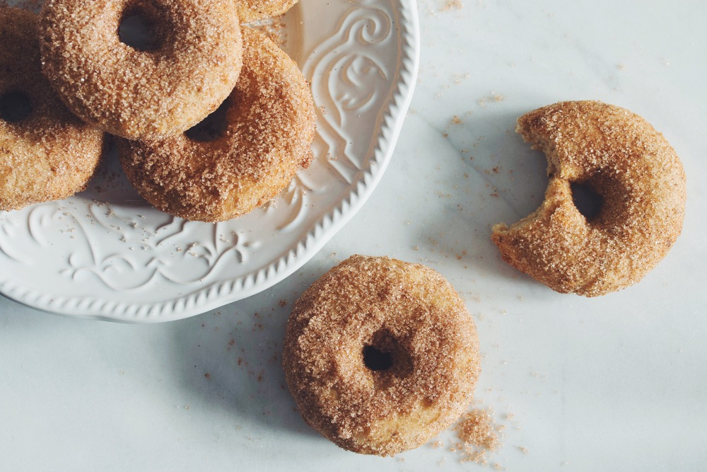 cinnamon sugar doughnuts #glutenfree #vegan #doughnuts | RECIPE on hotforfoodblog.com