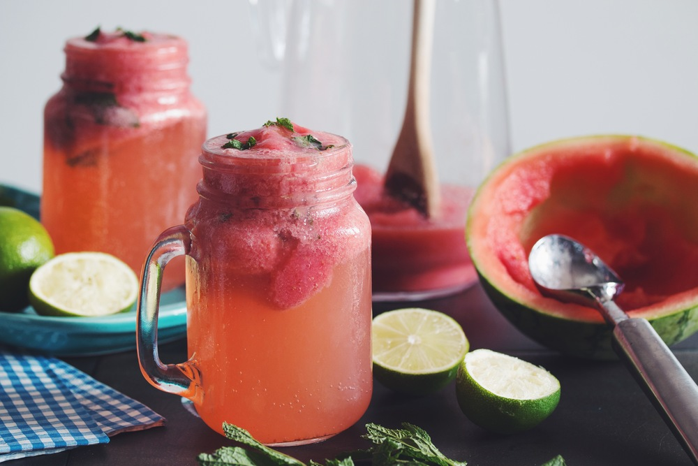 watermelon icebergs #drinks #mocktails | RECIPE on hotforfoodblog.com