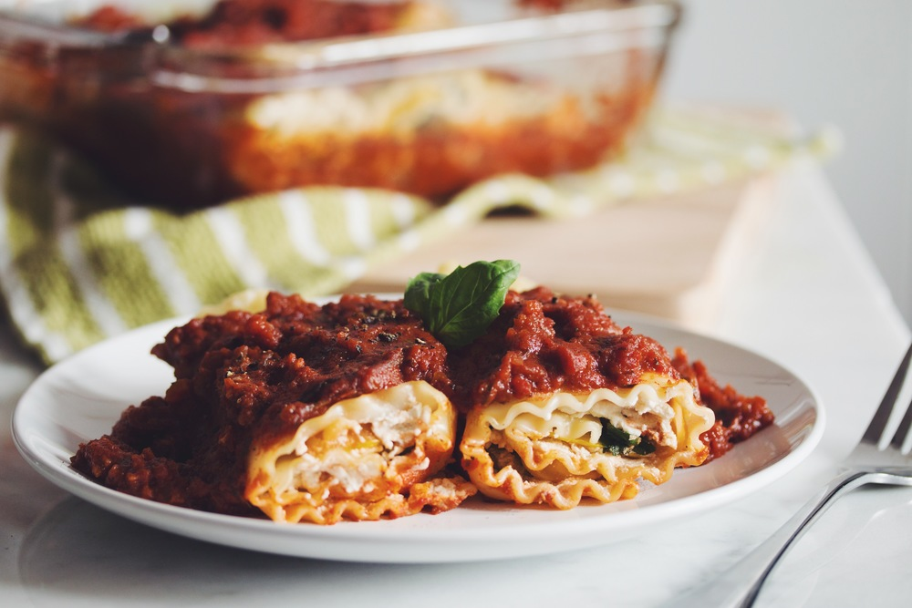 vegan lasagna roll ups with almond ricotta_hot for food