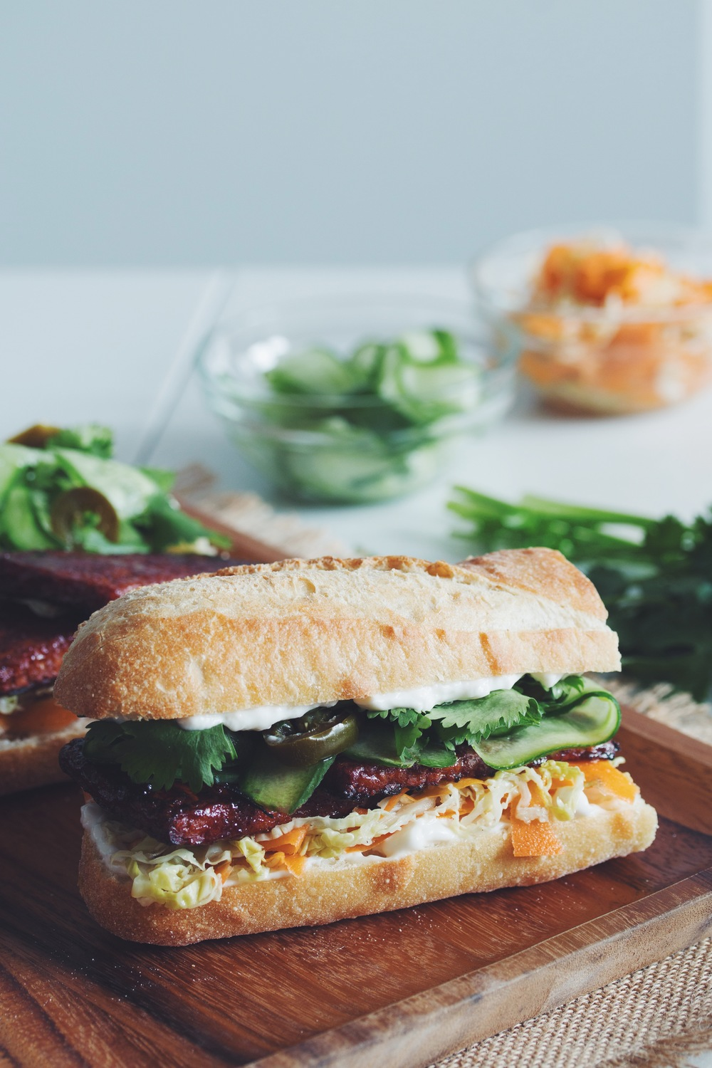 Smothered Tempeh Sandwich Smothered Tempeh Sandwich new photo