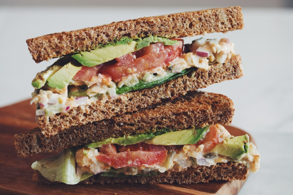 chickpea tuna sandwich | RECIPE on hotforfoodblog.com