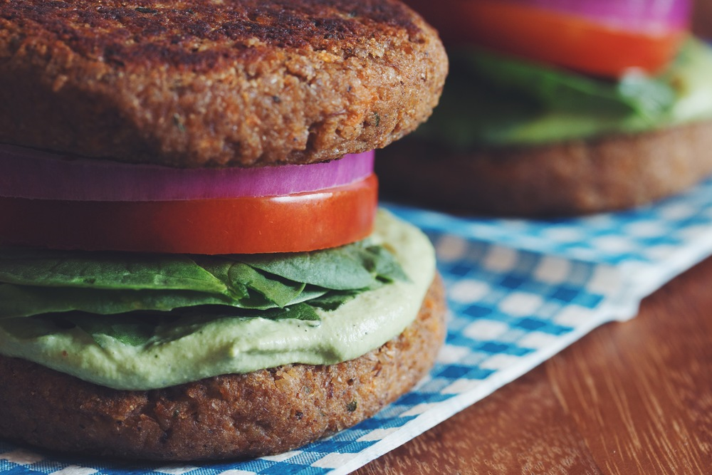 lentil walnut burger buns with creamy vegan cashew pesto | RECIPE on hotforfoodblog.com