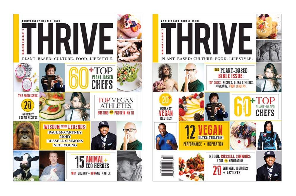 thrive magazine double anniversary ALL VEGAN issue - Sept 2015