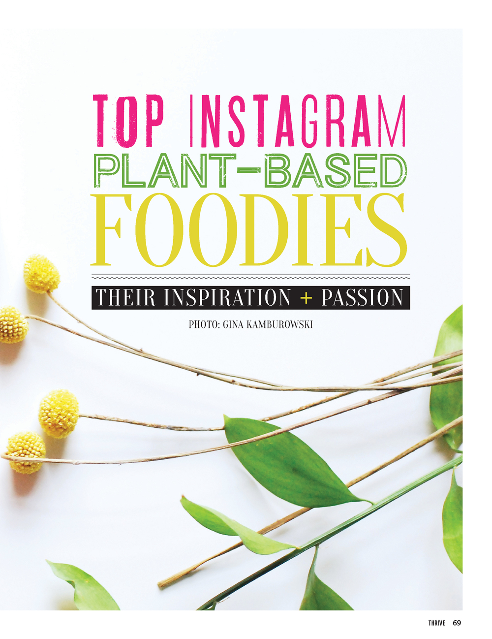 Thrive Magainze's top instagram plant-based foodies | hotforfoodblog.com