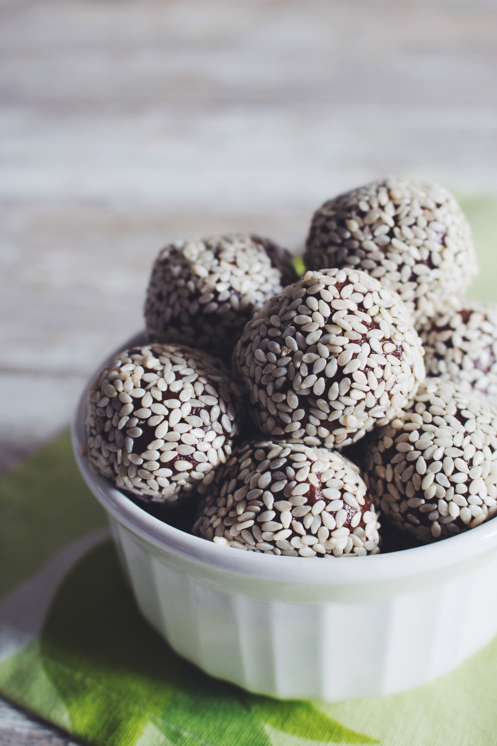 nut-free chocolate truffles #vegan | RECIPE on hotforfoodblog.com