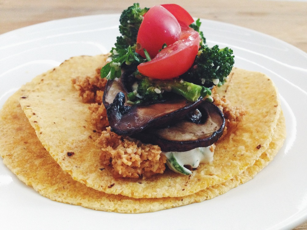 raw vegan walnut meat tacos | RECIPE on hotforfoodblog.com