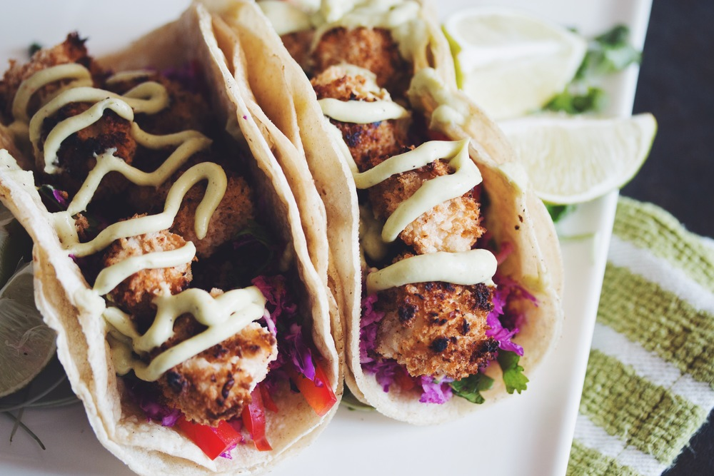 vegan crispy coconut tofu tacos | RECIPE on hotforfoodblog.com