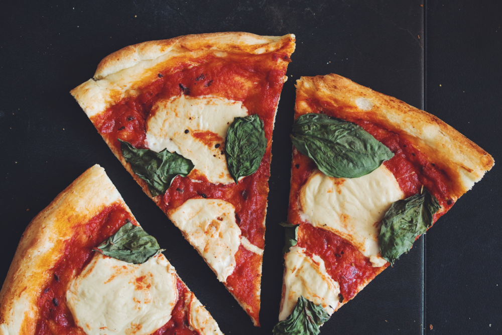 vegan margherita pizza | RECIPE on hotforfoodblog.com