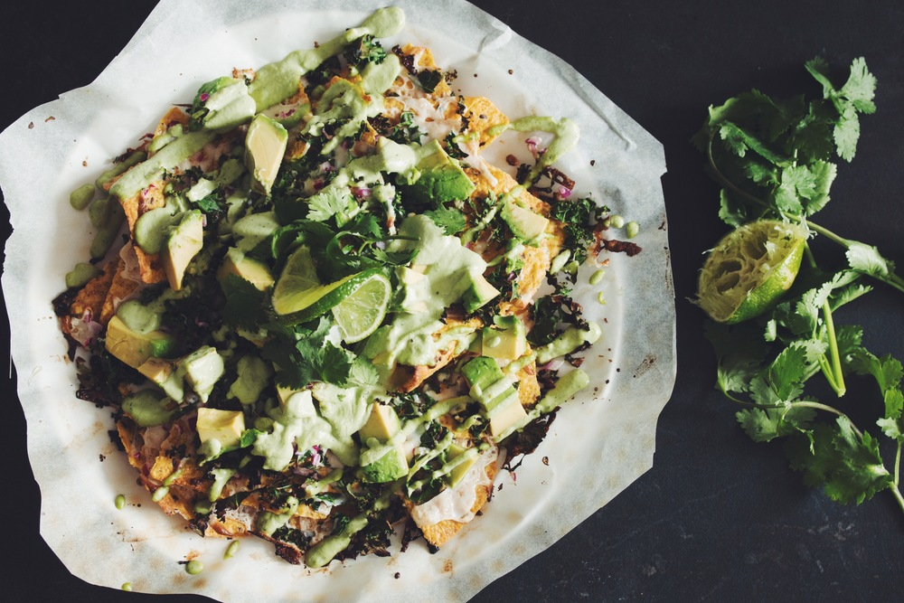 vegan mean green nachos | RECIPE on hotforfoodblog.com