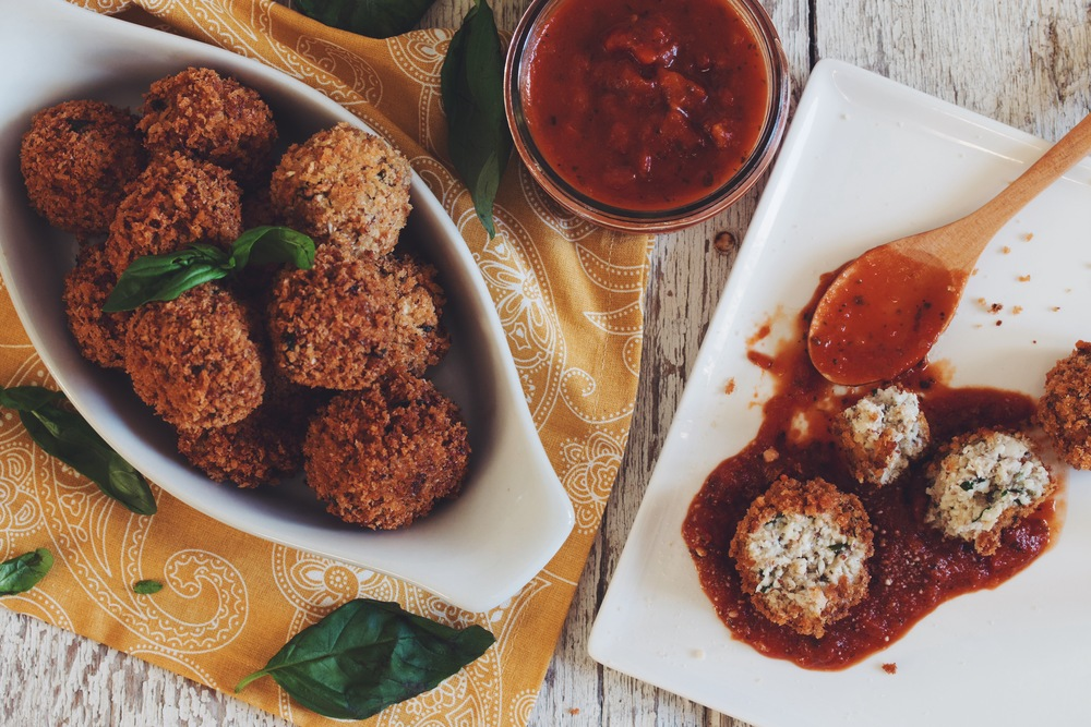 vegan cauliflower arancini_hot for food