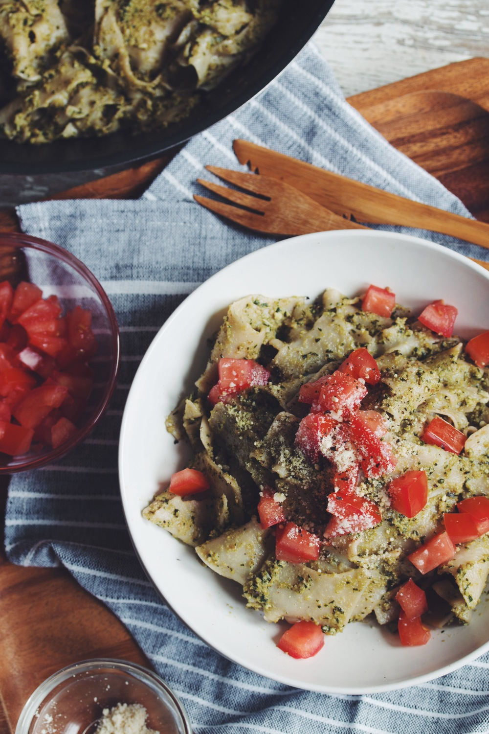 easy vegan pesto pasta | RECIPE on hotforfoodblog.com