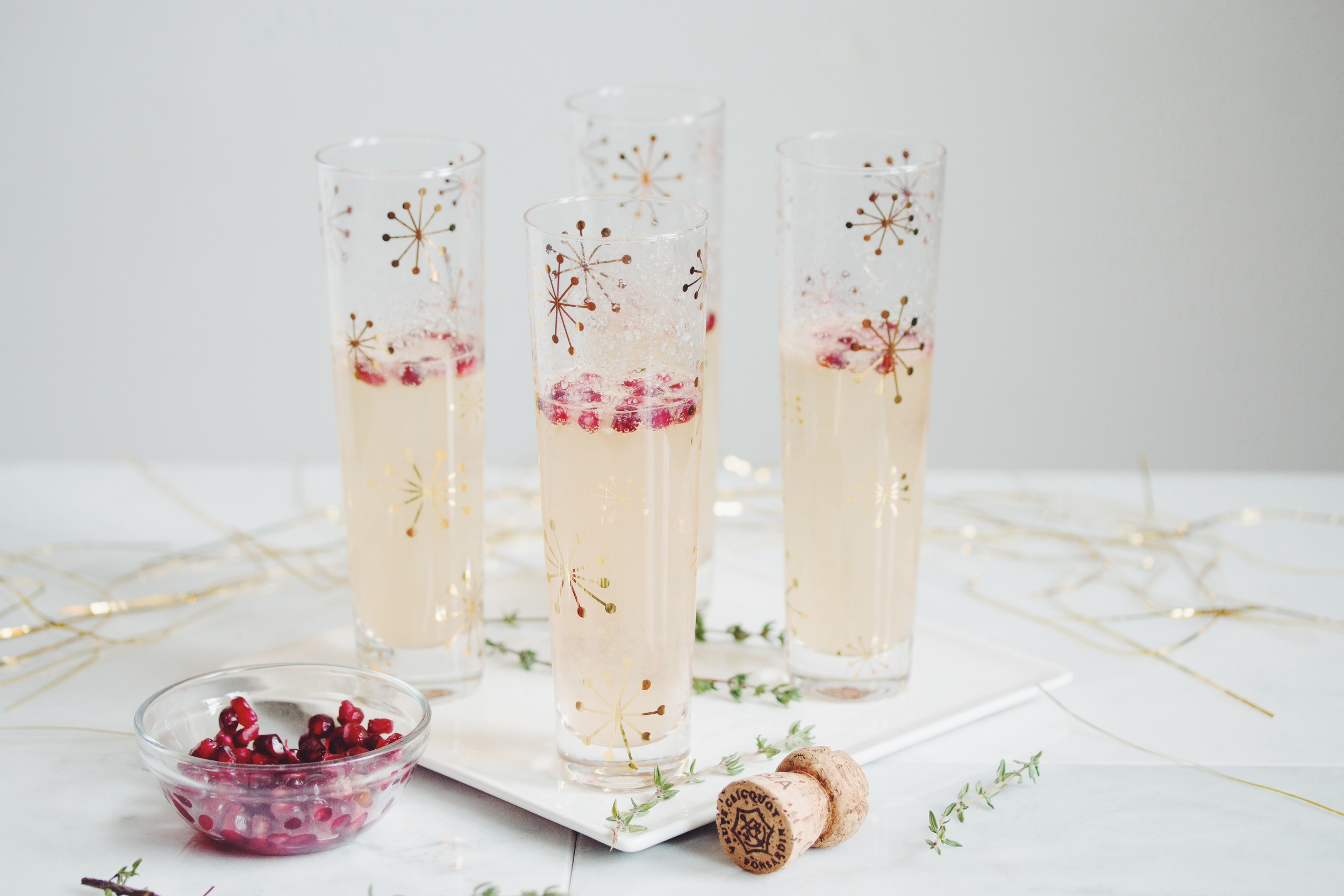 pear & pomegranate champagne cocktail_hot for food
