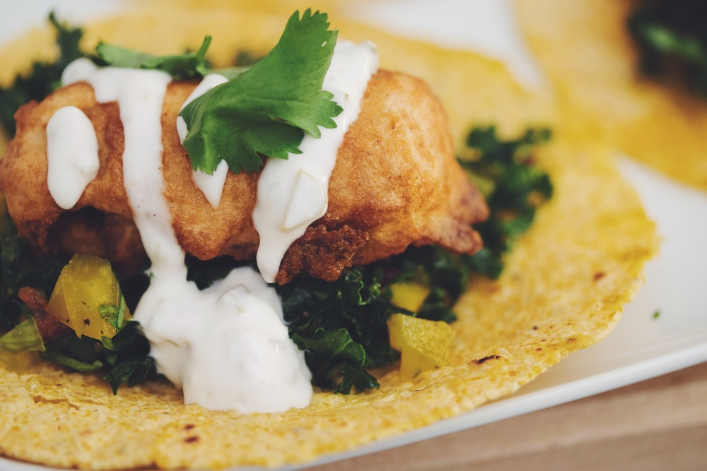 vegan tempeh fish tacos | RECIPE by hot for food