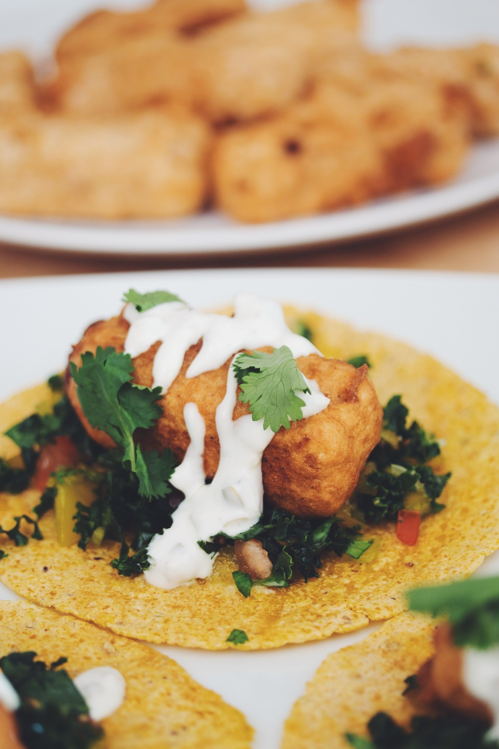 vegan tempeh fish tacos | RECIPE from hot for food