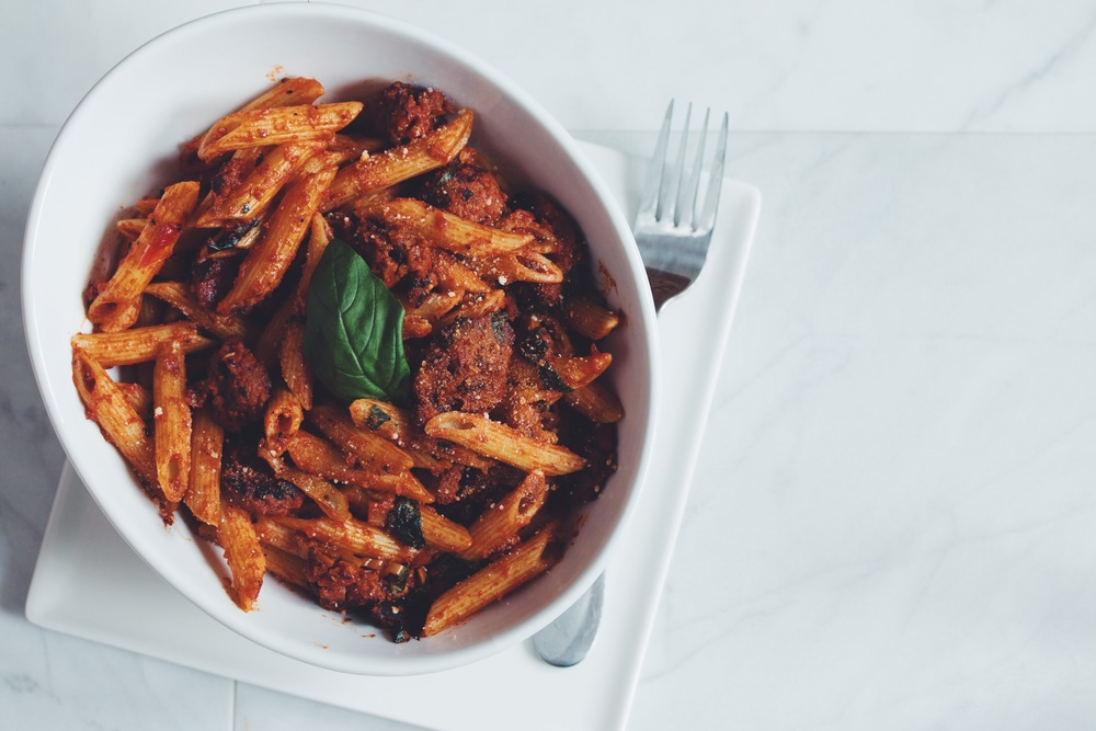 how to make vegan penne arrabbiata | RECIPE by hot for food
