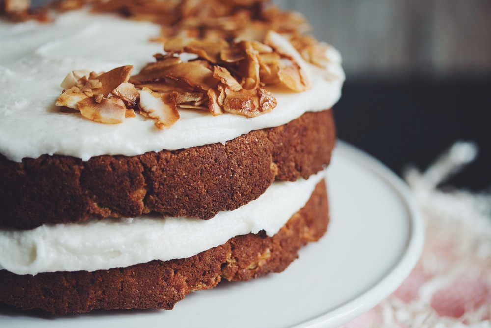 vegan carrot cake | RECIPE on hotforfoodblog.com