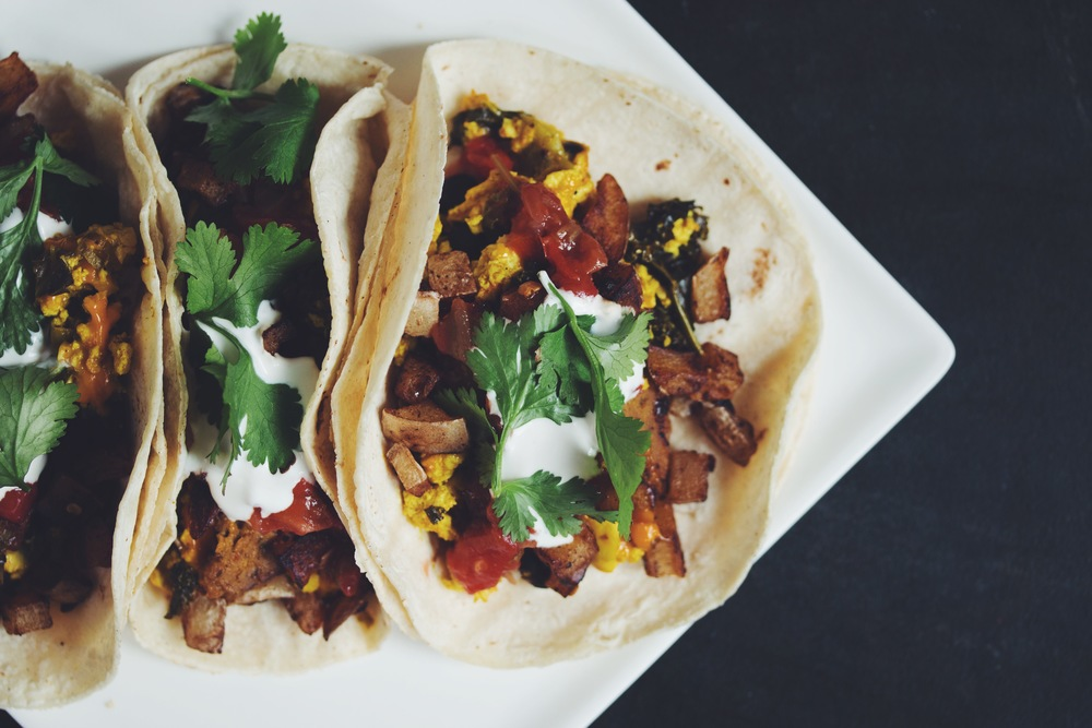 vegan breakfast tacos | RECIPE on hotforfoodblog.com