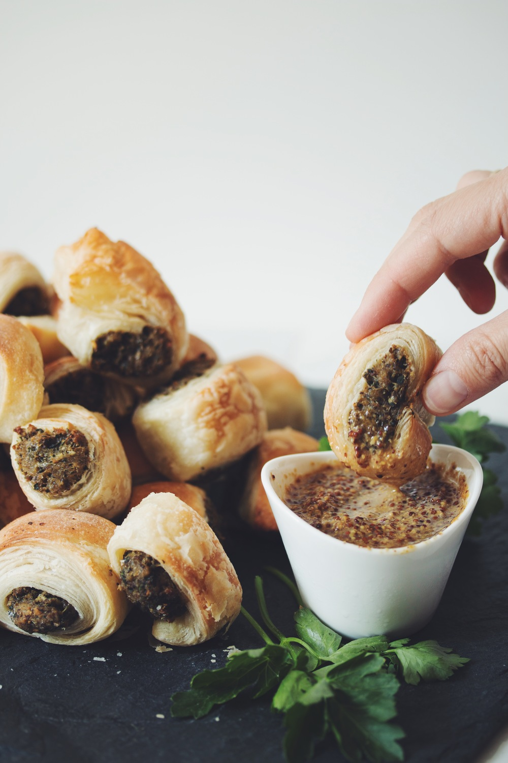 vegan sausage rolls | hot for food