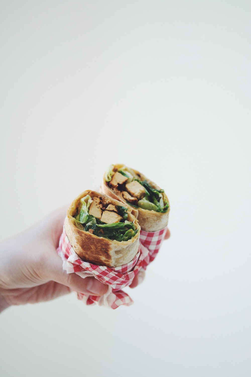 how to make vegan chicken caesar wraps | RECIPE on hotforfoodblog.com
