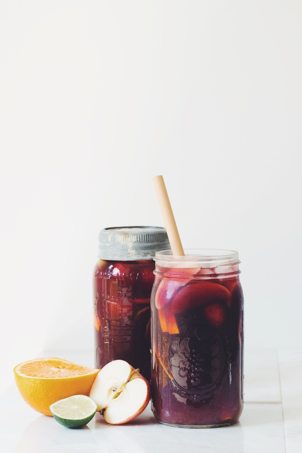easy summer sangria | RECIPE on hotforfoodblog.com