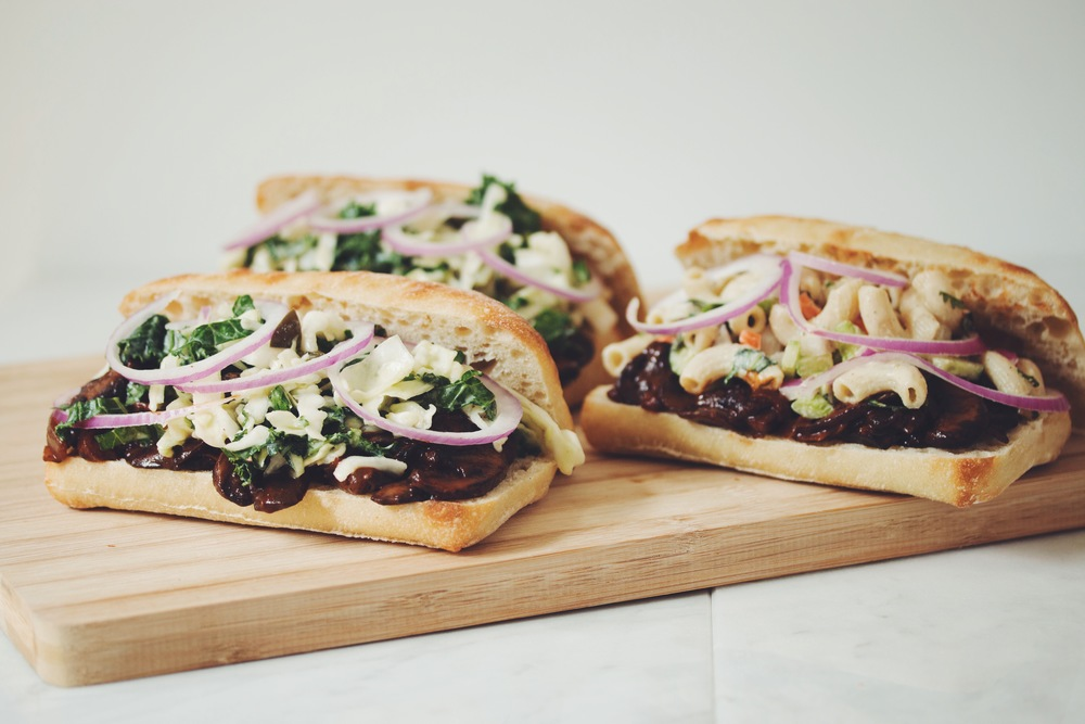 vegan pulled bbq mushroom sandwiches | RECIPE on hotforfoodblog.com