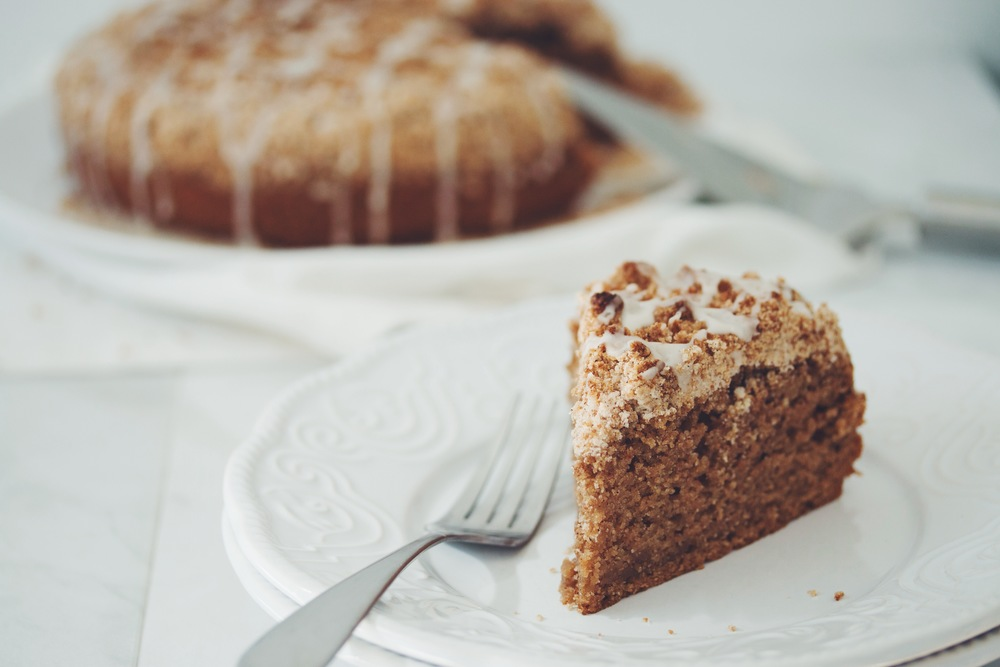 how to make vegan coffee cake | RECIPE on hotforfoodblog.com