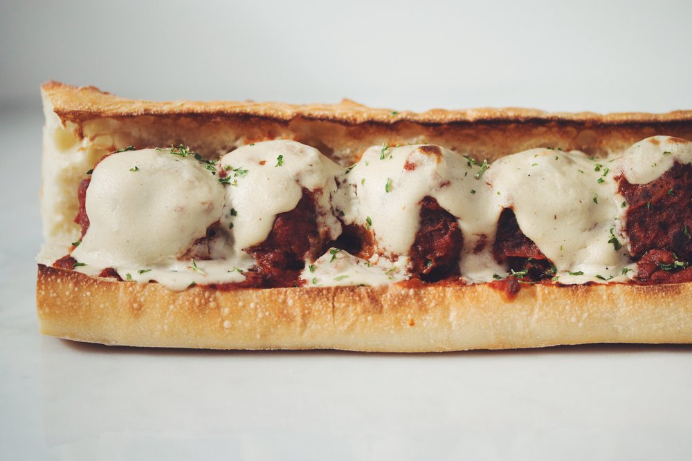 vegan meatball sub_hot for food
