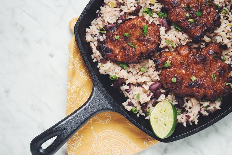 Spiced rum jerk sunchokes with rice beans hot for food jerk spice sunchokes vegan jerk chicken recipe on hotforfoodblog forumfinder Choice Image